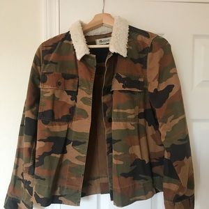 Madewell Army Jacket with Sherpa Collar